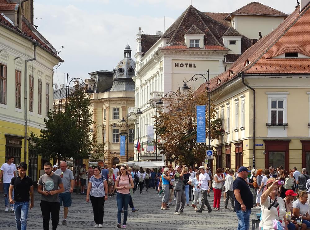 Vedere spre strada Nicolae Balcescu