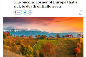 The bucolic corner of Europe that's sick to death of Halloween